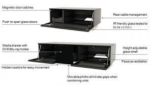 alphason element black tv cabinet for 98inch emtmod2500 blk