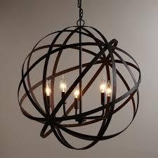 large metal orb chandelier 照明 吊灯
