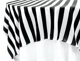black and white tablecloth stripe square satin table overlay harlequin round