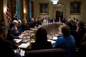 Obama And Cabinet The Difference In How Obama And Trump Create A Cabinet