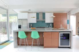 1951 mid-century modern home remodel Before & After midcentury-kitchen