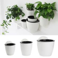 office planter. Image Is Loading Plastic-White-Self-Watering-Plant-Flower-Pot-Wall- Office Planter E