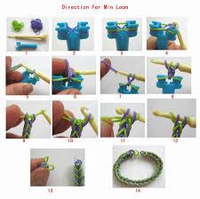 newest creative safe diy to make rubber band bracelet diy shine colorful rainbow knot knit mental