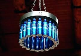 beer chandelier chandeliers blue bottle chandelier best crafts images on glass bottles a made of bud beer chandelier beer bottle