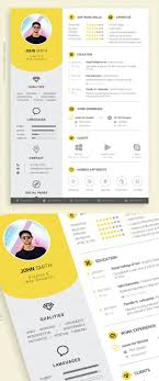50 Free Cv Resume Templates Best For 2019 Graphic Design Cv
