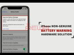 Your battery's current charging capacity. 100 Fix Non Genuine Battery Warning Important Battery Message On Iphone Xs And Above Ifixit Repair Guide