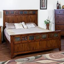 Sunny Designs 2333DC-Q Santa Fe Petite Queen Panel Bed in Dark Chocolate