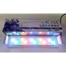Đèn LED máng Xuan Mei Long 2 dãy TRẮNG cho hồ cá cảnh, thủy sinh 3 chế độ  màu - phụ kiện thủy sinh cá tép cảnh