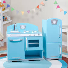 Kid Craft Retro Kitchen Kidkraft Blue Retro Wooden Play Kitchen And Refrigerator Walmartcom