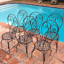 Outdoor Moroccan Patio Chairs - Set Of 6 Image 2