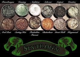 pre order slytherin house eyeshadow palette vegan harry potter eyeshadow