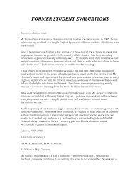 Letter Of Recommendation For Teaching Position Sample Letter Of