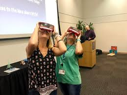 """Kerri Mann on Twitter: """"Fun w/VR today!😎Love connecting w/others from  around the state at conferences🤓#plcommunity #wgaresaSTEM @WGARESASTEM  @bigguyinabowtie… https://t.co/NBlVNuH5is"""""""