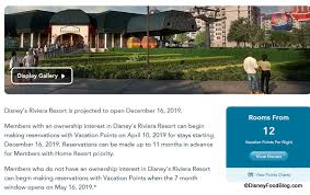 Disney Vacation Club Points Chart 2014 Disneys Riviera Resort Booking Information Available For