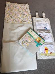 winnie the pooh curtains cot tidy and cot bed sheets