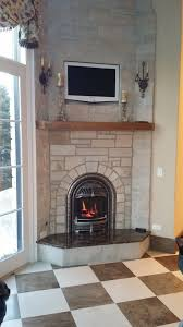 valor 530iln log fire radiant gas fireplace and insert installed