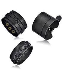 Tornito 3Pcs Genuine Leather Bracelet Braided Biker ... - Amazon.com