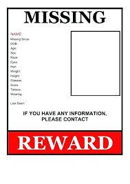 Missing Person Poster Template Gorgeous Missing Person Ad Template Missing Poster Template Free Templates
