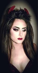 women devil makeup