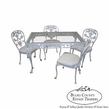aluminum dining room chairs. Vintage Cast Aluminum Dining Table \u0026 Chairs Patio Set By Molla Room E