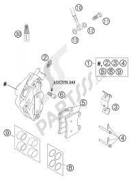 Brake caliper front supermoto ktm 625 smc 2004 eu