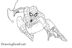 web drawing how to draw spider man drawingforall net