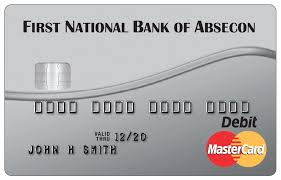 fnba s mastercard debit card with a first national bank