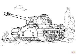 Small Picture IS 3 heavy tank coloring page Free Printable Coloring Pages
