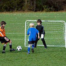 Amazoncom  Franklin Blackhawk Portable Soccer Goal Small Soccer Goals Backyard
