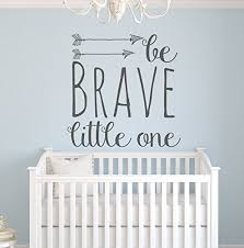 wall decor product by pinkie penguin be brave little one wall decal quote nursery on wall decal quotes for nursery with pinkie penguin wall decor be brave little one wall decal quote