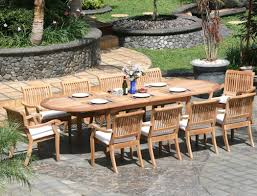 11 Piece Grade A Teak Dining Set Oval Table and Stacking