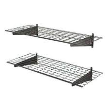 home depot wall shelves 2 shelf in w wire garage wall storage system in silver vein home depot wall shelves