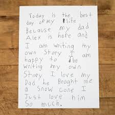 "the strangers project ""today is the best day of my life because  ""today is the best day of my life because my dad alex is here and i am writing my own story i am happy to be writing my own story"