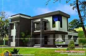 Modern Flat Roof House 2550 Square Feet Kerala Home Design And Floor