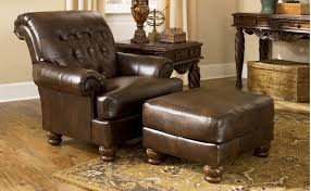 Leather Accent Chair With Ottoman Replace A Leather Accent Chairs In An Old Wooden Chair Home