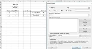 solving linear equations in excel using solver