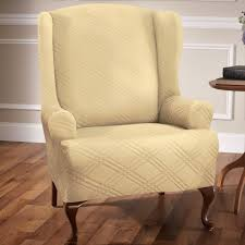 slip covers chair. Double Diamond Stretch Slipcover Wing Chair Slip Covers F