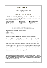 Resume Examples Medical Office Resume Templates Assistant Free