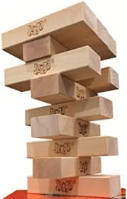 Wooden Brick Game Amazon Jenga GIANT Premium Hardwood Game Stacks to 100 feet 83