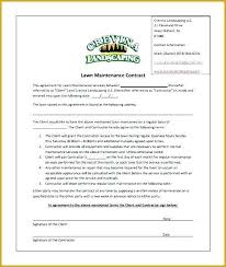 Lawn Care Contract Proposal Mytv Pw