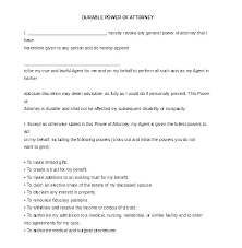 Durable Power Of Attorney Template Elegant Templates Medical