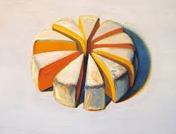 kut wayne thiebaud cheese slices 1986 oil on canvas private collection