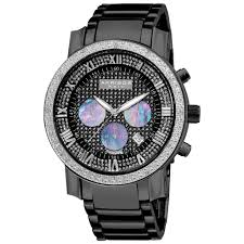 akribos xxiv akribos xxiv men s diamond accented black chronograph akribos xxiv men s diamond accented black chronograph bracelet watch