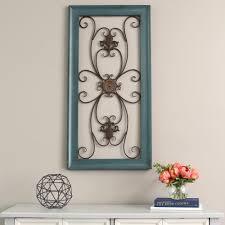 stratton home decor blue scroll gate metal wall decor