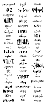 handdrawn logo creator bundle by favete art com