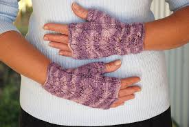 Free Fingerless Gloves Knitting Pattern Delectable Twin Leaf Fingerless Gloves Sqwish