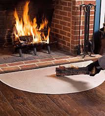 use our half round fireproof fireplace rugs for hearth safety fireproof hearth rugs are made of fiberglass fireplace rugs protect against sparks and