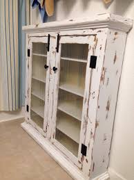 unique diy furniture. Furniture. Large Diy Distressed White Medicine Cabinet With Glass Doors. Unique Designs Ideas. Custom Decor Awesome Home Interior Furniture T