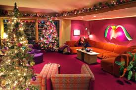 Xmas Decoration For Living Room Decorations Cheerful Lighted Christmas Decoration In Modern