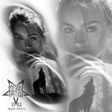 нежный эскиз с портретом девушки и волка эскиз тату мастера вики